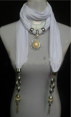 New Design Charming Pearl Pendant Scarf Wholesale Canada http://jewelryscarfcanada.com/
