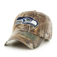 b557d9743 Adjustable Realtree Seattle Seahawks Camo Clean Up Hat
