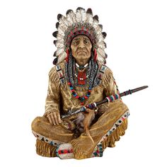 Features:  -Cast in quality designer resin.  -Hand painted.  Product Type: -Figurine.  Theme: -Historic.  Subject: -People.  Finish: -Multi-colored.  Primary Material: -Resin.  Age Group: -Adult. Dime
