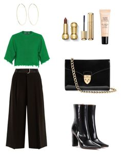 """Outfit"" by lilyhastings98 on Polyvore featuring moda, Weekend Max Mara, Valentino, Vetements, Aspinal of London, Magda Butrym ve Guerlain"