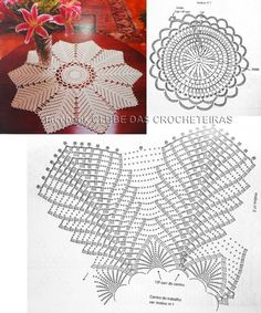 Knitting Patterns Lace We are accustomed to seeing the beautiful pieces in crochet decorating the bathroom, through the charming j … Mandala Au Crochet, Crochet Circles, Crochet Doily Patterns, Crochet Diagram, Crochet Round, Crochet Chart, Thread Crochet, Crochet Designs, Crochet Stitch