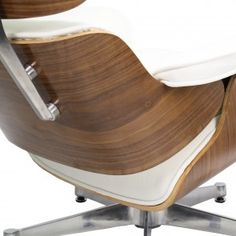 Eames Lounge Chair wit met Ottoman