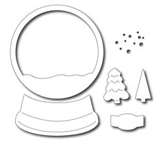 Frantic Stamper Precision Die - Snow Globe Base-This large snow globe will fill up an size card nicely. The assembled snow globe measures approx. Christmas Decorations For Kids, Christmas Crafts For Kids To Make, Christmas Activities For Kids, Diy Christmas Cards, Xmas Cards, Christmas Art, Simple Christmas, White Christmas, Snow Globe Crafts