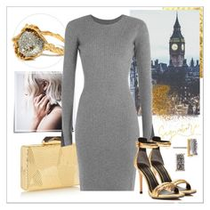 """Gold and Grey"" by piaspieler on Polyvore featuring Mode, Post-It, Alighieri, KOTUR, Alexander Wang, Kenneth Cole, BaubleBar, gold, grey und metallic"