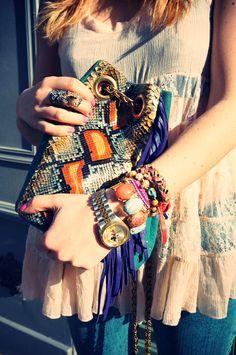 Delphine Delafon bag, Shamaz Jewels accesories, L'oreal nailpolish. Photo By Marieluvpink.com