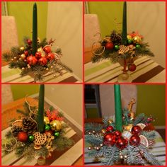 My christmas centerpieces