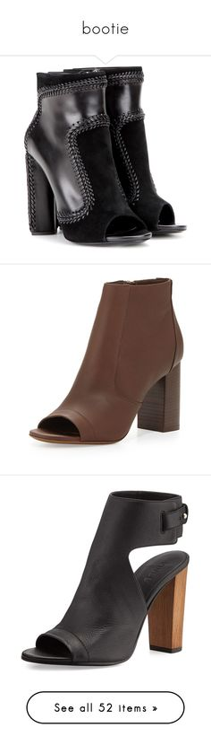 """""""bootie"""" by namelifny1 ❤ liked on Polyvore featuring shoes, boots, black, suede leather boots, genuine leather boots, leather shoes, tom ford shoes, black shoes, ankle booties and april hammerstein"""