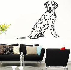 Spotted Dalmatian Dog Vinyl Decals Wall Sticker by VinylDecals2U, $24.65