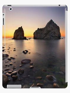 'Sunset at Avlonas beach - Lemnos island' iPad Case/Skin by Hercules Milas Beach Photography, Landscape Photography, Slow Shutter, Shutter Speed, Sunset Sea, Most Beautiful Beaches, Beach Look, Hercules, Greek Islands