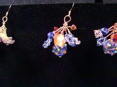 Danish cluster technique earrings. I call these the world earrings.