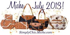 Miche July 2013 Collection shells - Urban backpack shell, giraffe prints