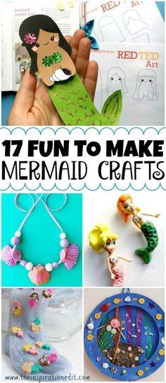 17 amazing mermaid crafts for kids mermaid diy поделки, игры Summer Crafts For Kids, Crafts For Kids To Make, Easy Crafts For Kids, Creative Crafts, Art For Kids, Summer Diy, Spring Crafts, Mermaid Kids, Mermaid Crafts