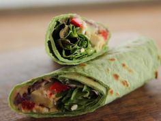 Get Heavenly Hummus Wrap with Homemade Hummus Recipe from Food Network