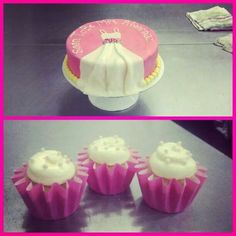 Bridal Shower Cake and Cupcakes www.neverenoughsugar.com