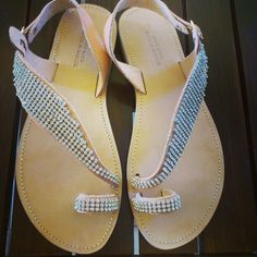 Silver crystals Handmade Clothes, Flip Flops, Crystals, Sandals, Silver, Shoes, Women, Fashion, Zapatos
