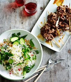 Australian Gourmet Traveller fast recipe for Vietnamese-style beef and vermicelli salad.