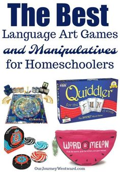 The Best Language Arts Games and Manipulatives for Homeschoolers The best language arts games are educational AND fun. This list of board games, card games and manipulatives will motivate your students to practice language arts skills. Language Arts Games, Language Games For Kids, Educational Board Games, Manipulation, Reading Games, Bulletins, Board Games For Kids, Art Curriculum, Figurative Language