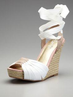 love these shoes. too bad no one would see the wrap part under my dress