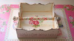 napkin box - wood painting -  ahşap boyama peçetelik