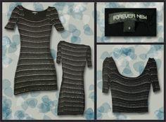 Forever New, glittler striped  Size: 6  Price: $20