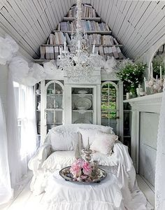 rustic white home decor #bed
