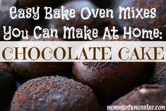 Easy Bake Oven recipes for Cream Cheese Sugar Cookies, as well as chocolate chip cookies, and a chocolate cake. Will save you a ton of money on mixes! Mini Chocolate Chips, Chocolate Recipes, Chocolate Chip Cookies, Chocolate Cake, Easy Baking Recipes, Oven Recipes, Cooking Recipes, Copycat Recipes, Easy Bake Oven Mixes