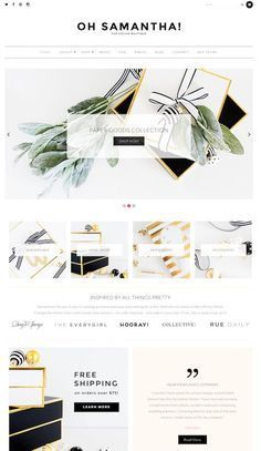 Samantha is a beautiful and feminine WooCommerce WordPress theme for ecommerce shop websites. The premium ecommerce theme from BluChic has been specifically crafted for female entrepreneurs and bus… Ecommerce Web Design, Ecommerce Shop, Site Inspiration, Site Vitrine, Website Layout, Layout Site, Travel Design, Shopping Websites, Wordpress Theme