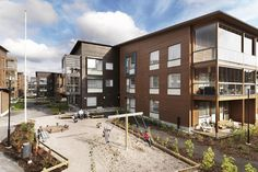 Viikki wooden apartment buildings were build using Metsä Wood Kerto LVL, Kerto-Ripa and glulam products