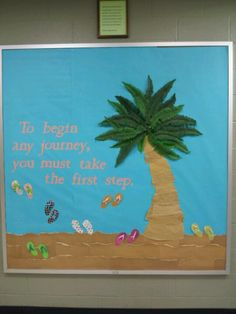 I love 3D boards....this one I created with sand (sand paper), palm tree (artificial palm leaves, crinkled paper), & flip flops (Life's a Beach cartridge, with ribbon straps).