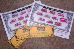 """We sent out Box Top Buck collection sheets. For every sheet turned in the child received one gold """"Box Top Buck"""" to be spent at our Box Top Shop (table). -kris"""