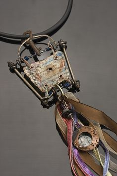 relic necklace by Riki Schumacher, via Flickr