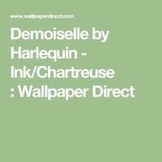 Demoiselle by Harlequin - Ink/Chartreuse :Wallpaper Direct