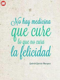 Felicidad de Gabo.