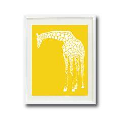 Giraffe Nursery Wall Art Print - White and Grey OR Choose Colors - Children, Kids Room, Home Decor - Silhouette-Safari Animal-Zoo Giraffe Nursery, Safari Nursery, Animal Nursery, Nursery Wall Art, Nursery Ideas, Nursery Decor, Art Wall Kids, Art For Kids, Deer Cartoon