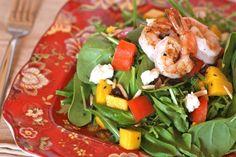 Spinach Mango Salad with Prawns - Danielle Walker's Against All Grain