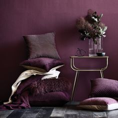 If you don't fancy going all out with the Pantone Colour of the Year then perhaps opt for some Ultra Violet accessories instead. Add some deep purple throws and cushions to your interiors for an Luxury Homes Interior, Luxury Home Decor, Interior Design Trends, Interior Decorating, Decorating Tips, Decorating Websites, Interior Paint, Purple Interior, Kitchen Interior
