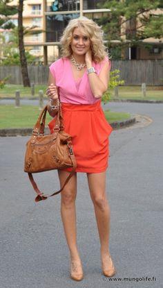 pretty color block dress