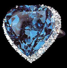 The Blue Heart.  Atanik Ekyanan of Neuilly, Paris cut this heart shape, which weighs 30.82 metric carats and is of a rare deep blue color, sometime between 1909/10. In 1910 Cartier bought the diamond & sold it to an Argentinian, Mrs. Unzue. Van Cleef & Arpels bought it in 1953. They exhibited it set in a pendant & sold it.  In 1959 Harry Winston acquired it, selling it 5 yrs later, mounted in a ring, to Marjorie Post. Finally Post donated the Blue Heart to the Smithsonian.