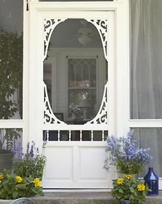 Screen door to porch ...