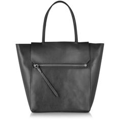 3.1 Phillip Lim Black Nova Tote (2,550 AED) ❤ liked on Polyvore featuring bags, handbags, tote bags, black, leather purse, black leather tote, black leather purse, black purse and black tote bag
