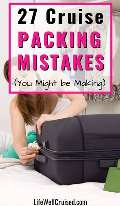 Don't make these cruise packing mistakes on your next cruise vacation. Here are 27 common (and less known) mistakes people make when packing for a cruise. From forgetting formal wear to overpacking, that's just the tip of the iceberg! A must read for first time cruisers and avid cruisers alike! #cruise #packingtips #cruisetips #cruisemistakes Packing For A Cruise, Cruise Tips, Cruise Travel, Cruise Vacation, Packing Tips, Cruise Ship Reviews, Cruise Port, Caribbean Cruise, Travel Essentials