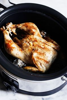 Slow Cooker Whole Roasted Chicken + 5 other Slow Cooker Recipes | Lexi's Clean Kitchen