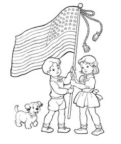 fourth of july flag symbolizes children coloring pages