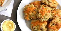 Cheesy Scones - The trifecta of ham, cheese and chives makes this savory scone perfect for breakfast, lunch or dinner.  http://www.purewow.com/entry_detail/recipe/9583/Scones-with-a-cheesy-twist.htm