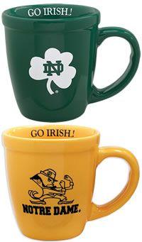 3132e5a6460 University of Notre Dame Fighting Irish Cappuccino Mug | University Of Notre  Dame