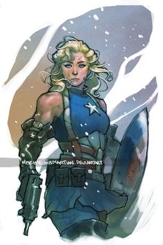 Captain America gender bending that's not just an excuse to give the character cleavage. :D