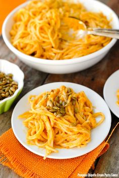 Pumpkin Chipotle Cream Pasta Sauce. Smoky, spicy, creamy pasta sauce with a…
