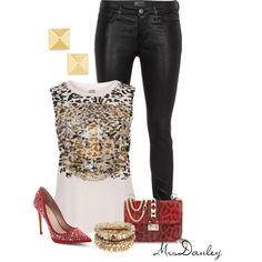 """studded"" by mrsdanley on Polyvore"