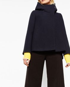 Image 7 of COAT WITH WRAPAROUND COLLAR from Zara