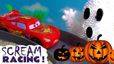 Disney Cars Toys McQueen Halloween Spooky Racing with Hot Wheels Ghosts ...